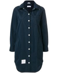 Thom Browne - Detachable Hood Shirt Coat - Lyst