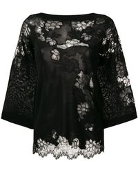 Ermanno Scervino - Wide-sleeve Lace Blouse - Lyst