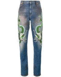 141cc6d4e605 À découvrir   Jeans coupe droite Gucci femme