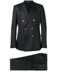 Dolce & Gabbana - Two Piece Double Breasted Suit - Lyst