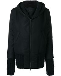 Ann Demeulemeester - Zipped Hooded Coat - Lyst