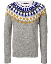 JOSEPH - Pattern Knitted Jumper - Lyst