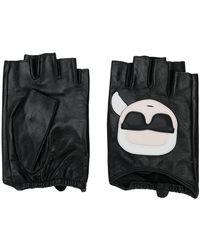 Karl Lagerfeld - Ikonic Fingerless Gloves - Lyst