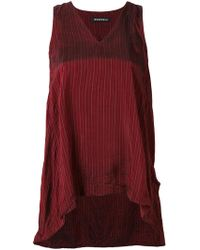 Rundholz - Striped Gathered Back Top - Lyst