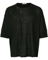 Jil Sander - Buttoned Detail T-shirt - Lyst