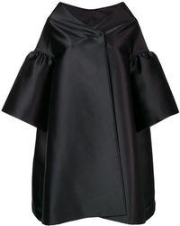 Alberta Ferretti - Ruffle Sleeve Oversized Coat - Lyst