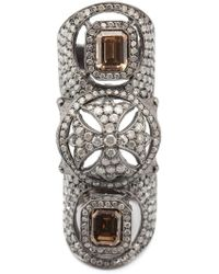 Loree Rodkin | Maltese Cross Bondage Diamond Ring | Lyst