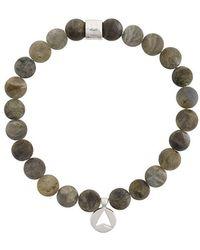 Northskull - Versilbertes 'Labradorite Insignia Charm' Armband - Lyst