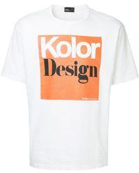 Kolor - Logo Patch T-shirt - Lyst