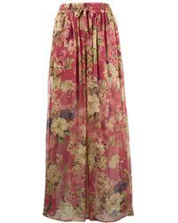 42dc1b61c3 Lyst - Zimmermann Melody Floral-print Silk-crepon Wide-leg Pants