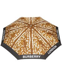 Burberry Deer Print Folding Umbrella