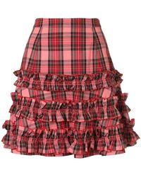Molly Goddard - Checked Ruffled Skirt - Lyst