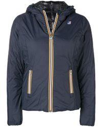 K-Way - Zipped Padded Jacket - Lyst