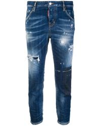 DSquared² - Distressed Jeans - Lyst