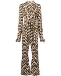Diane von Furstenberg - Jumpsuit mit Retro-Print - Lyst