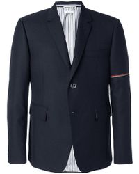 Thom Browne - Tri-stripe Detail Shirt Jacket - Lyst