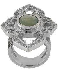 Loree Rodkin - 18kt White Gold, Diamond And Sapphire Umba Ring - Lyst