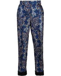 Vera Wang - Pantalones con bordado y ojales - Lyst
