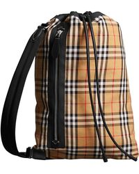 Burberry - Medium Vintage Check Cotton Duffle Bag - Lyst