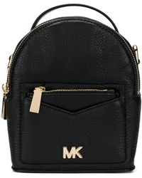 f123c43f9e926 Lyst - Michael Kors Rhea Extra-small Quilted-leather Backpack in Natural