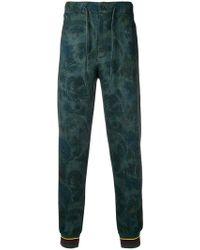 Etro - Floral Print Track Pants - Lyst