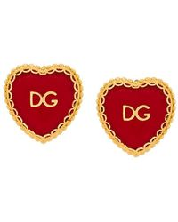 Dolce & Gabbana - Sacred Heart Clip-on Earrings - Lyst