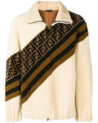 Fendi - Ff Motif Shearling Jacket - Lyst