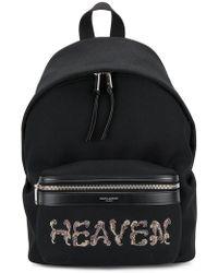Saint Laurent - Heaven Embellished Backpack - Lyst