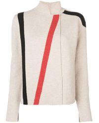 Akris - Stripe Detail Knitted Jacket - Lyst