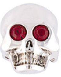 Moschino - Gem Eye Skull Ring - Lyst
