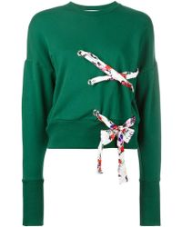 MSGM   Crisscross Sweatshirt   Lyst