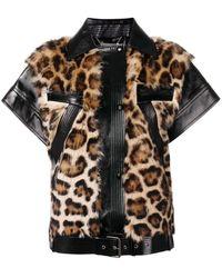 Givenchy Chaleco con motivo de leopardo
