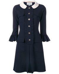Gucci - Kleid mit Rüschen - Lyst