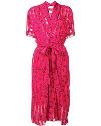 Lala Berlin - Floral Wrap Midi Dress - Lyst