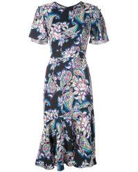f48206b445a8 Farfetch. Prabal Gurung - Victoria Printed Midi Dress - Lyst