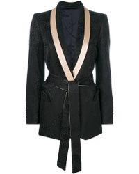 Blazé Milano - Belted Tailored Blazer - Lyst