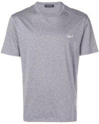 Ermenegildo Zegna - Logo Embroidered T-shirt - Lyst