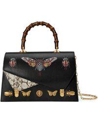Gucci - Ottilia Leather Top Handle Bag - Lyst