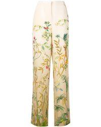 Alberta Ferretti - Floral High Waisted Trousers - Lyst