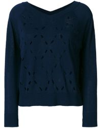 Zanone | Perforated Knit Top | Lyst