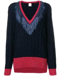 Pinko - Tinsel Fringe Lurex Sweater - Lyst