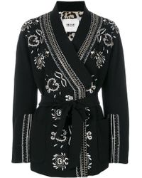 Bazar Deluxe - Embroidered Belted Jacket - Lyst