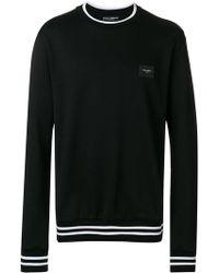 Dolce & Gabbana - Logo Plaque Sweatshirt - Lyst
