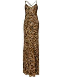 6595d8d7b Michelle Mason - Vestido de fiesta con estampado de leopardo - Lyst