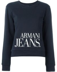Armani Jeans - Printed Logo Sweatshirt - Lyst