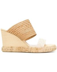 Casadei - Open-toe Wedge Sandals - Lyst