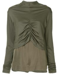 G.v.g.v - Shirring Detail Layered Top - Lyst