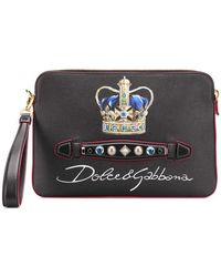 5038dc2aa4 Lyst - Dolce   Gabbana Prince Forever Clutch Bag in Black for Men