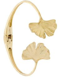 Aurelie Bidermann - 18kt Yellow Gold Ginkgo Cuff - Lyst