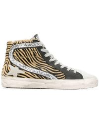 Golden Goose Deluxe Brand - Animal Printed Trainers - Lyst